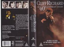 CLIFF RICHARD THE 40TH ANNIVERSARY CONCERT  VHS PAL VIDEO A RARE FIND
