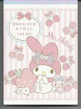 Sanrio My Melody Notepad Extra Thick Strawberries
