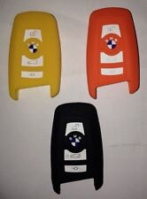 BMW Key Fob Case Cover For Models 1/3/5/7 In 100 % Silicone In Yellow And Orange