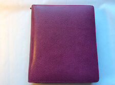 Filofax A5 Finsbury Raspberry Grained Leather iPad Air Tablet Case Holder 022511