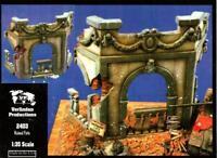 Verlinden 1:35 Ruined Patio Resin & Ceramic Diorama Accessory #2403U