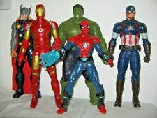 5 Marvel Super Heros Hulk Thor Captain America Iron & Spider Man 4 Talk 30cm Hi