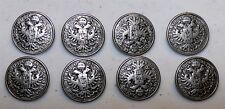 8 Metal Vintage COAT OF ARMS Shank BUTTONS for Military German Bavarian Jacket