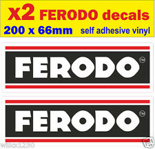 x2 Ferodo brake stickers rally race car classic decals van mini bus truck bicke
