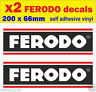 x2 Ferodo brake sponsor stickers rally race car classic decals van truck bicke