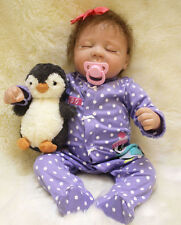 Handmade Lifelike Baby Soft Vinyl Girl Doll Reborn Newborn Dolls With Clothes
