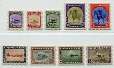 GREENLAND 1945 NEW YORK ISSUE SCOTT 10-18 PERFECT MNH