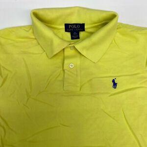 Polo Ralph Lauren Polo Shirt Boys Youth XL 18-20 Short Sleeve Yellow Cotton