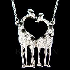 w Swarovski Crystal Giraffe Lover Safari Animal Girls Chain Necklace New Jewelry