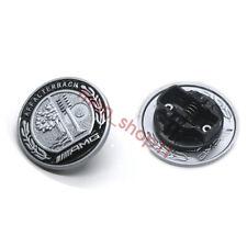 57mm Black Star Flat Hood Bonnet Logo Emblem Badge for Mercedes-Benz C300 C63