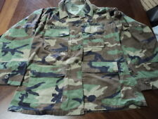 Lot of 5 Used Military Camo Shirts Size Medium Regular Hunting Work Shirts