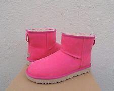 UGG PINK AZALEA CLASSIC MINI II CANVAS/ WOOL BOOTS, WOMENS US 10/ EUR 41 ~ NIB