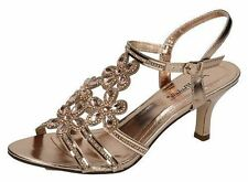 Strappy, Ankle Straps Standard (D) Floral Heels for Women