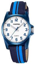 Calypso Kinderuhr by Festina Jugend Uhr K5707/6 blau Textil Leder
