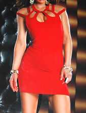 Forplay Born in Hollywood Red Casual Clubwear Womens Dress Size L NEW