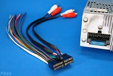 DUAL RADIO POWER PLUG STEREO WIRE HARNESS 20PIN CD MP3 DVD TV XDVD8180 US SELLER