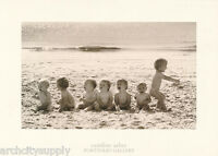 POSTER : PHOTO : CHILDREN ON THE BEACH - FREE SHIPPING !    # CAR11      RW7 F
