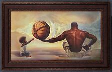 "African American Black Art Print ""IF THIS WORLD WERE MINE (MALE)"" by Wak"