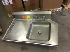 """*Used* Advance Tabco Dts-S60-48L 47"""" Straight-Soil Dishtable & Pre-Rinse Sink"""