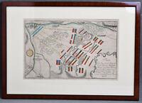 Alte Karte Schlacht Groß Jägersdorf Siebenjähriger Krieg 1757 Preussen Russland