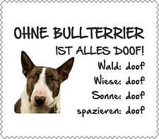 """Displayreinigunstuch Bull Terrier """"ALLES DOOF"""" Brillenputztuch Hund NEU GT0007"""