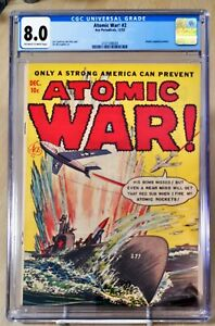 Atomic War #2 CGC 8.0 1952 Atomic Bomb Panels