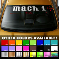 MACH 1 Premium Windshield Banner Vinyl Decal Sticker for Ford Mustang Levacar