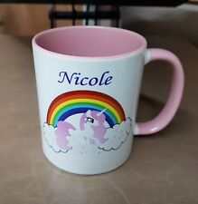 Print Any Name Pink & White Girls Unicorn gift Mug, Birthday,christmas,occasion