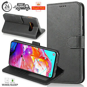 For All Samsung Galaxy Mobile Phone Premium Leather Wallet Case Cover UK Seller