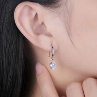 Women's Teardrop Clear CZ Drop/Dangle Earrings White Gold Filled Wedding Jewelry