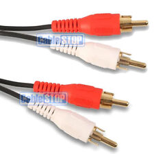 10m OFC Twin RED WHITE 2 RCA PHONO Audio LEFT RIGHT Cable Male to Male Lead GOLD