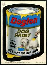 Doglon Dog Paint-  #3/30 Wacky Packages 1982 Irish Sticker (C899)