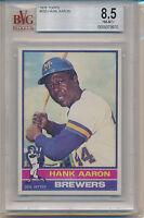 1976 Topps Hank Aaron (HOF) (#550) BVG8.5 BVG