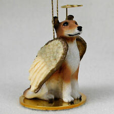 Collie Ornament Angel Figurine Hand Painted Smooth Hair Sable