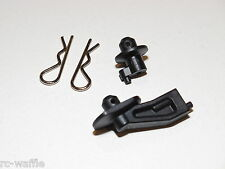 ASC80914 FACTORY TEAM ASSOCIATED RC8B3 1/8 BUGGY BODY MOUNTS WITH CLIPS
