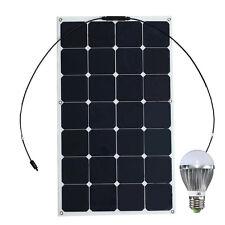90W 12V Mono Semi Flexible Solar Panel RVVZ PWM Kit For RV Boat Battery Charger