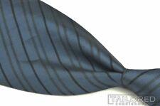 """GIANNI VERSACE Vintage VTG Blue Striped 100% Silk Mens Luxury Tie - 4.00"""""""