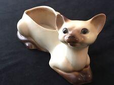 Vintage 1961 NAPCO Ohio Mid Century Siamese Cat Ceramic Planter Figurine