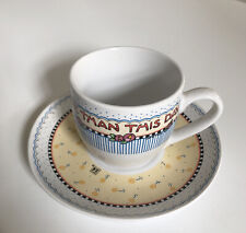 Mary Engelbreit Cup/Saucer Nothing is worth more than this day. No cracks chips.