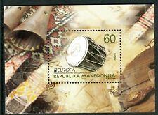 172 - MACEDONIA 2014 - Europa Cept - Musical Instruments - Souvenir Sheet MNH
