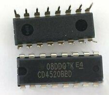 10PCS CD4520BE DIP-16 CD4520 DIP16 Ti Dual Binary Up compteur