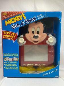 1991 Ohio Art Disney Mickey Mouse Mickey's Etch a Sketch