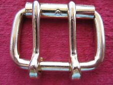 "4 American Mfg Co. Double Tongue 1 3/4"" Brass Finish Roller Buckles, Nos"