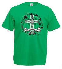 Camiseta J1143 Cruzar Celta Motto Gaélico Celtic Cross Irish
