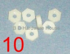10 - Nuts - Nylon Plastic 6/32 Nut for Standoffs, Screws, PCB Spacers