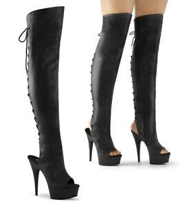 "PLEASER Delight-3019 5 3/4"" Heel Thigh-High Boots"