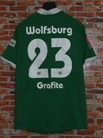 Soccer Jersey Trikot Camiseta Maillot Sport Wolfsburg Graphite 23 Size XL