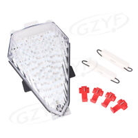 LED Taillight Integrated Turn Signals For Yamaha YZF R6 2008-2010 2009 CLEAR