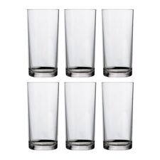 16-ounce Premium Quality Plastic Water Tumbler | Clear Set of 6