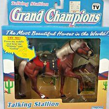 Vtg Grand Champions Horse 1992 Talking Stallion 50027 Play Set NIB Brown Sealed